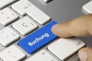 Buchung tastatur. Finger